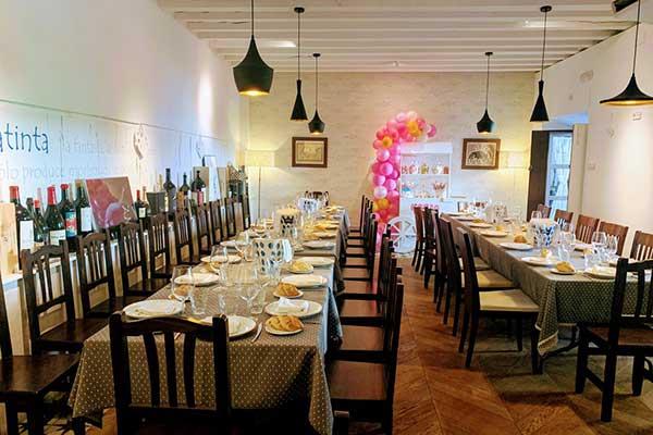 Comedor del Restaurante Aguatinta